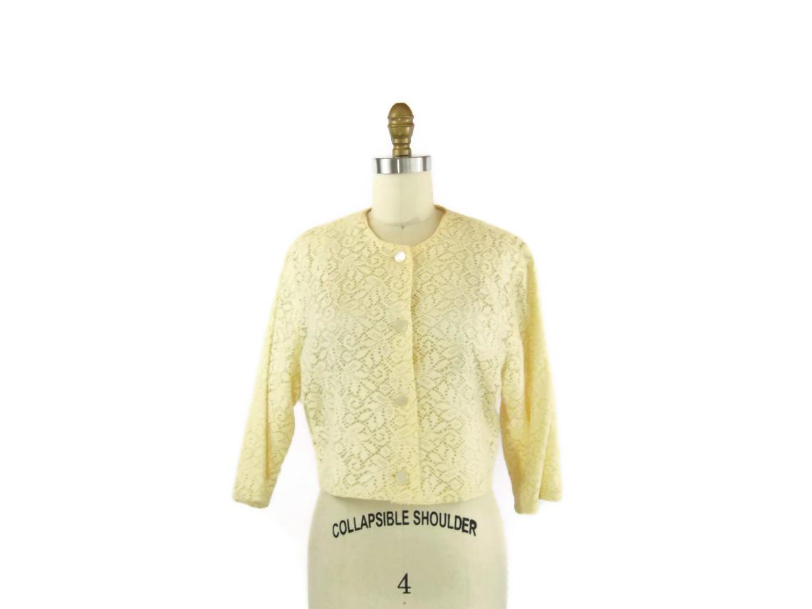 1950s Cream Lace Bolero