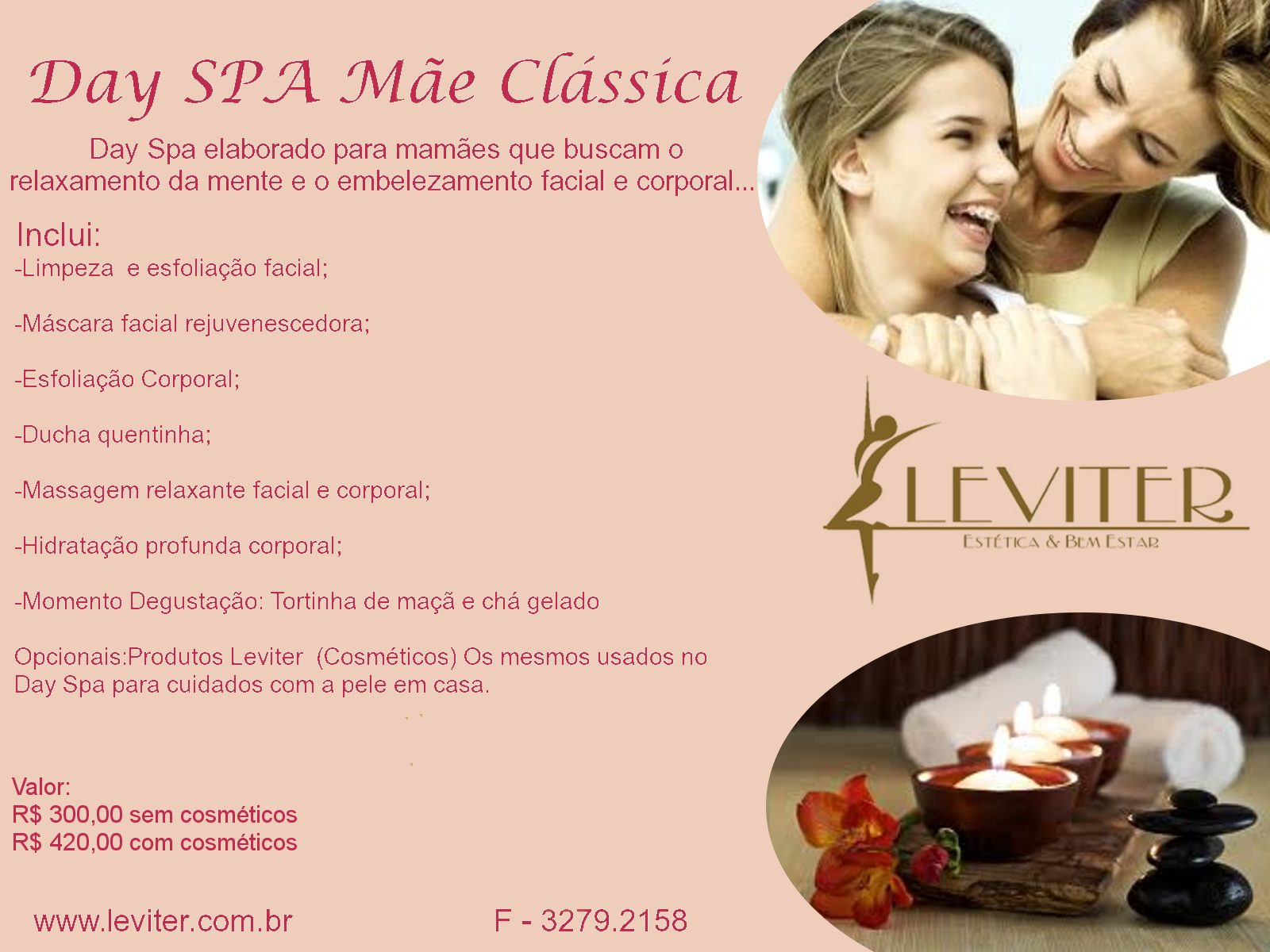 Dra christiane linhares day spa dia das m es for 3 day spa