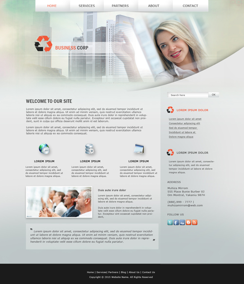 Create a Web Design Business Corp In Photoshop