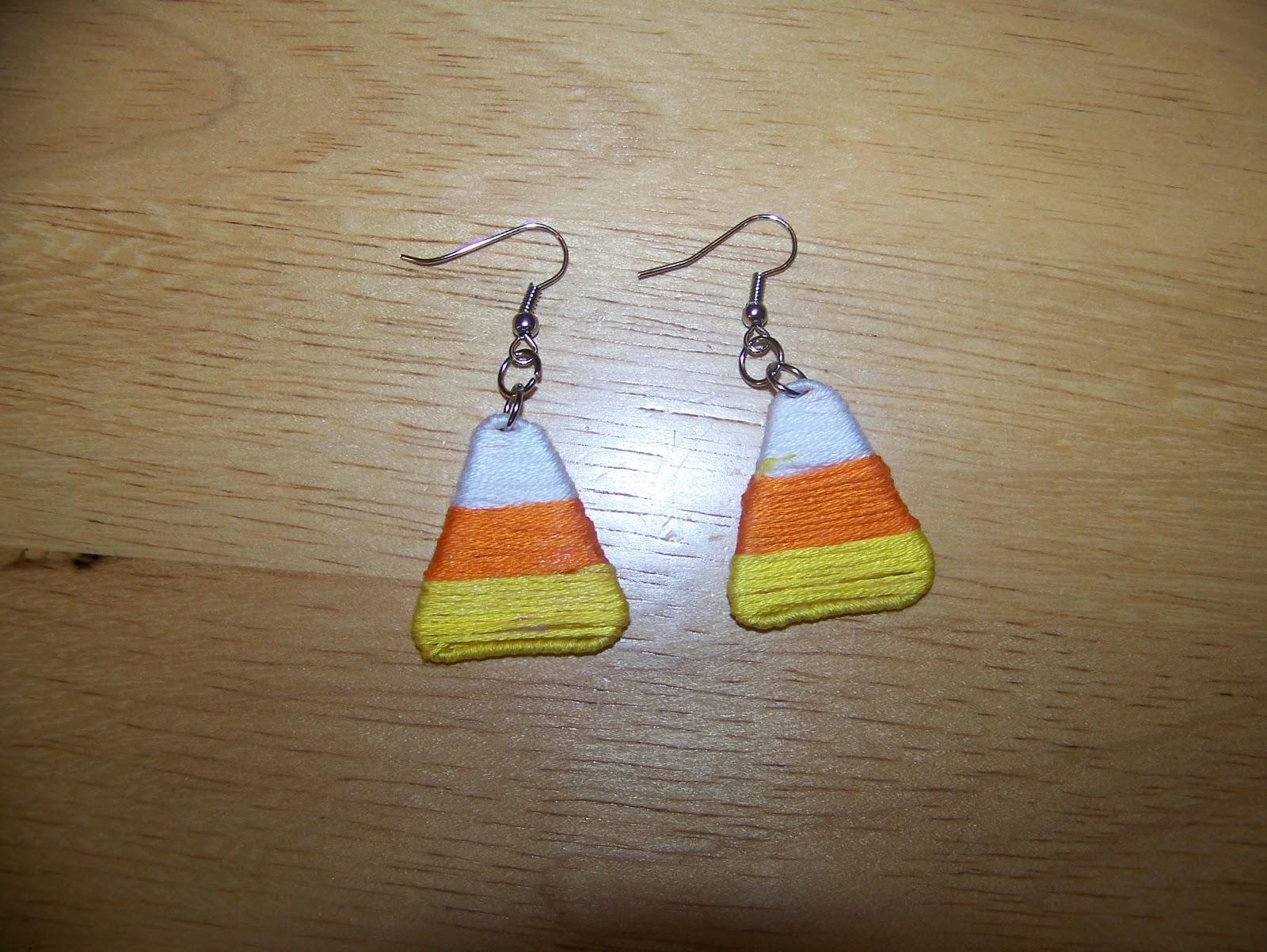 Candy Corn Paper Clip Earrings