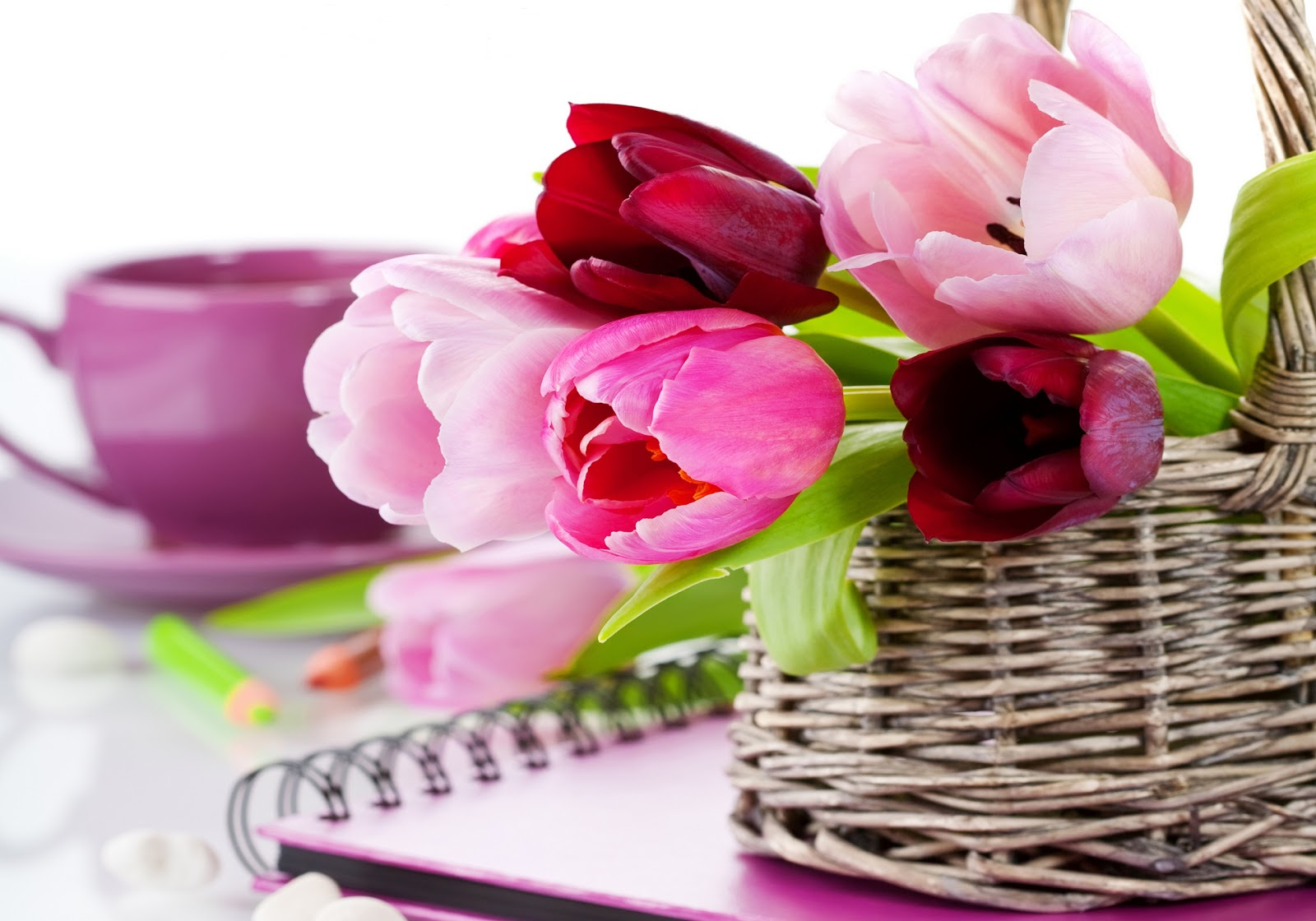 Beauty Flower Flowers Basket Wallpaper