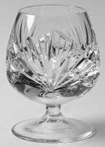 clear crystal brandy sniffer