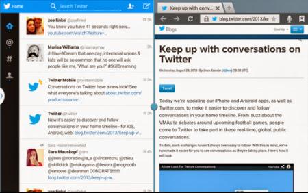 Aplikasi Twitter khusus tablet Android