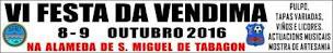 SAN MIGUEL DE TABAGÓN (O ROSAL): 8 E 9 DE OUTUBRO, VI FESTA DA VENDIMA.