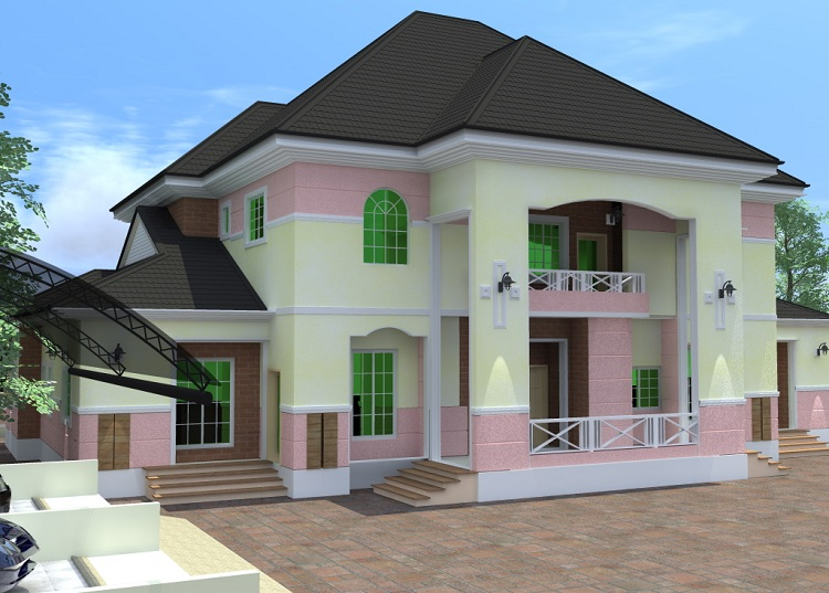 Residential Homes And Public Designs 6 Bedroom Duplex With Attached Chapel And Study