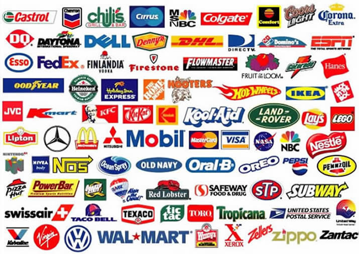 how many famous logos with