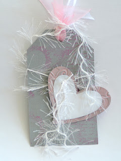 Love Tag in Pink - White - Grey