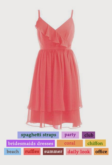 wear again coral bridesmaid dress