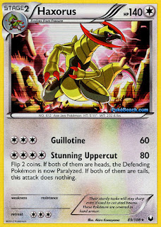Haxorus Dark Explorers Pokemon Card