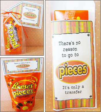 """Parties and Patterns: Missionary Candy Sayings """"Reeses Pieces"""""""