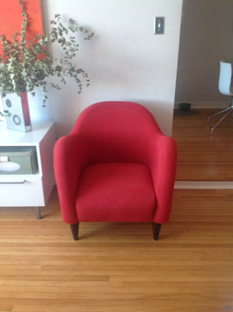 Chair makeover using Rit dye