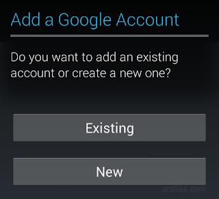 Add account Existing or New - Cara Membuat Email Google Gmail Baru Handphone Android