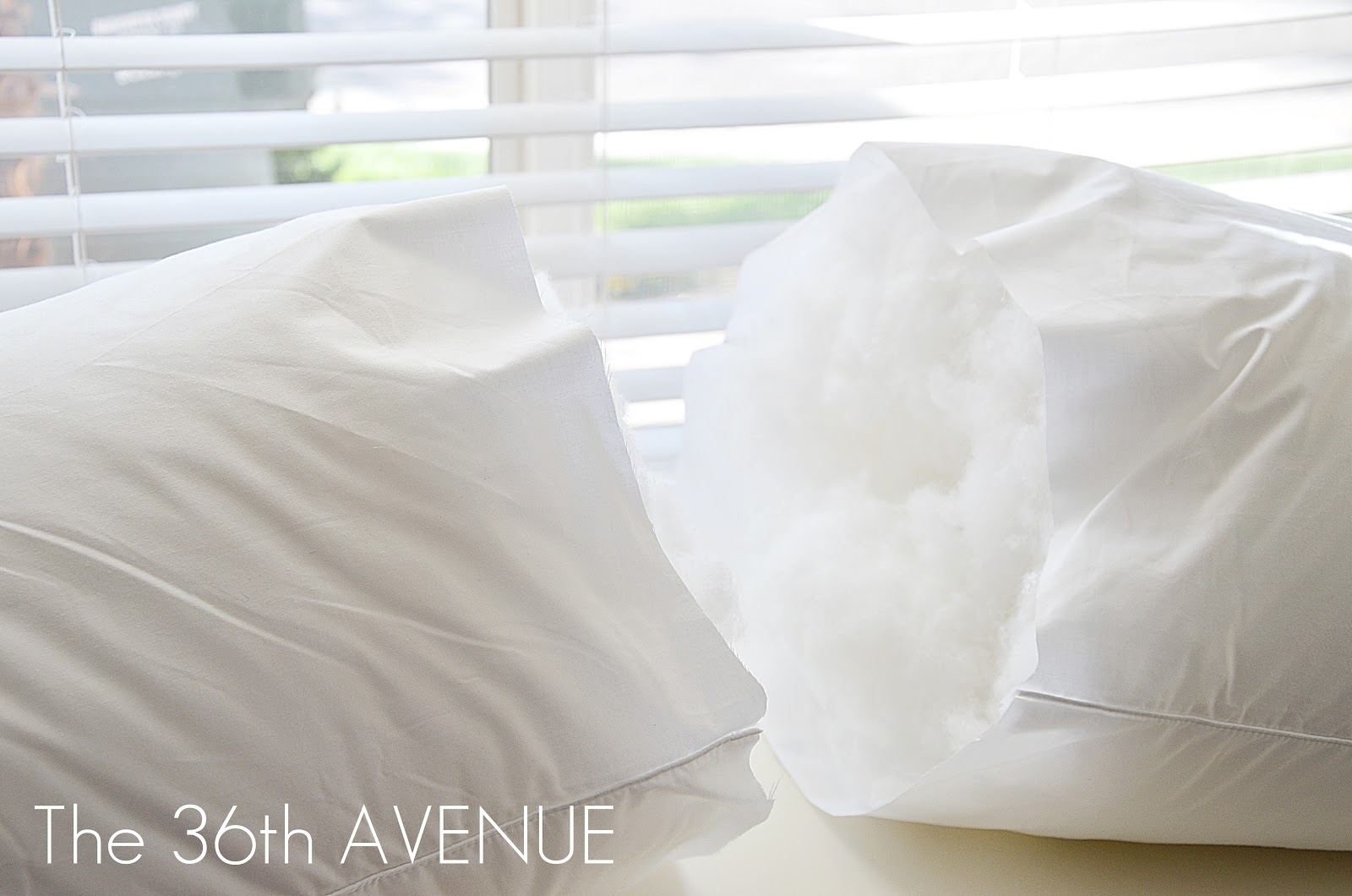 diy pillow insert from a king size pillow the 36th avenue. Black Bedroom Furniture Sets. Home Design Ideas