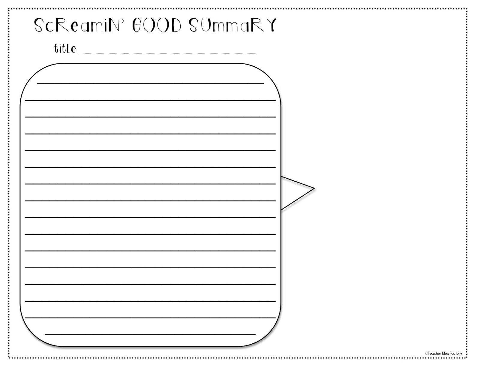 summary worksheet template Free reading comprehension worksheets, vocabulary worksheets, book report forms, and other reading worksheets.
