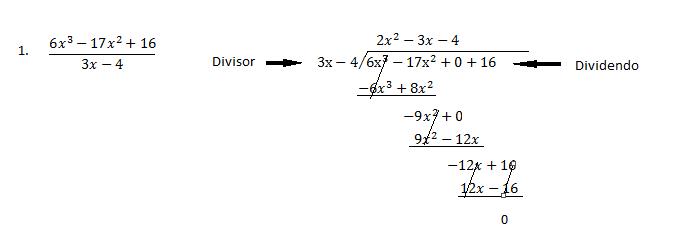 multiplicacion divicion de polinomios: