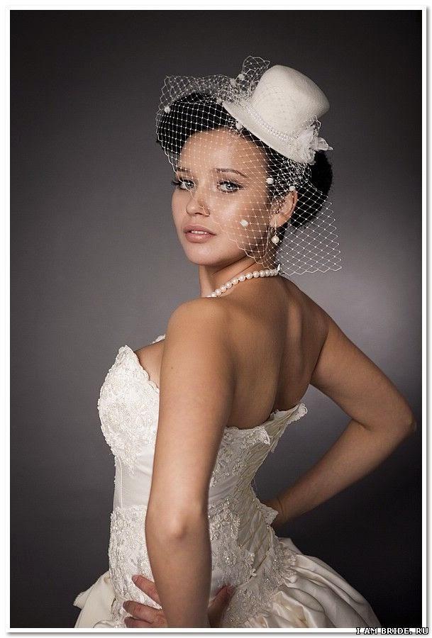 Шляпки для невест своими руками 859