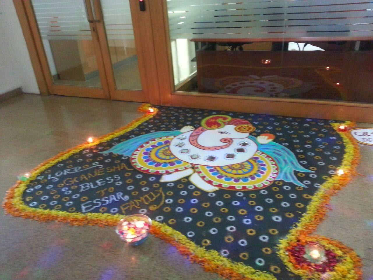 Ganesha Rangoli 2