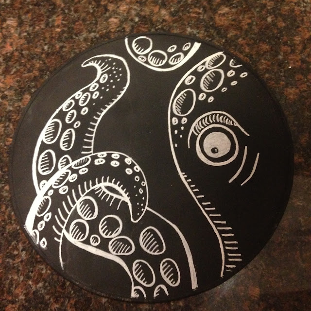 sea monster chalkboard