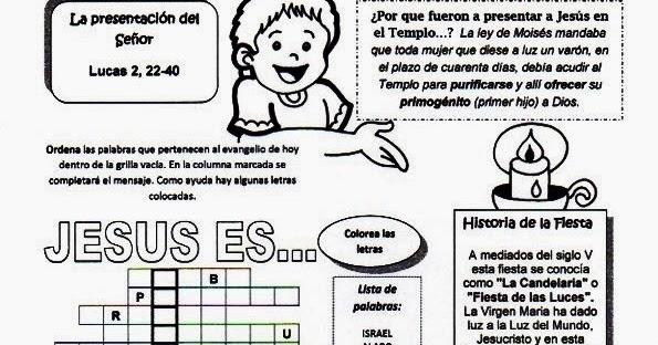 RECURSOS PARA CATEQUESIS: Recursos Catequesis Presentación de Jesús ...