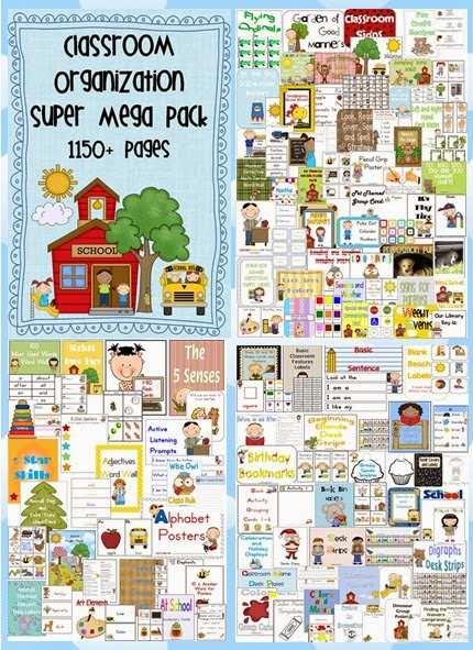 Classroom Organization SUPER MEGA Pack with over 70 files for your classroom set up