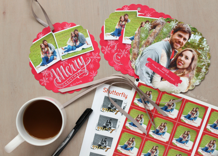 Photo Ornament Christmas Cards from Shutterfly. www.pitterandglink.com
