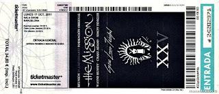 entrada de concierto de the mission