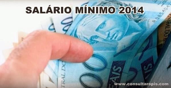 salário mínimo 2014