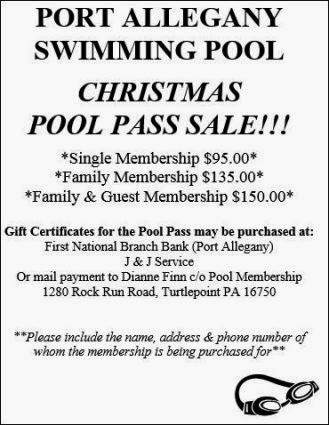 Port Swimming Pool Christmas Pass