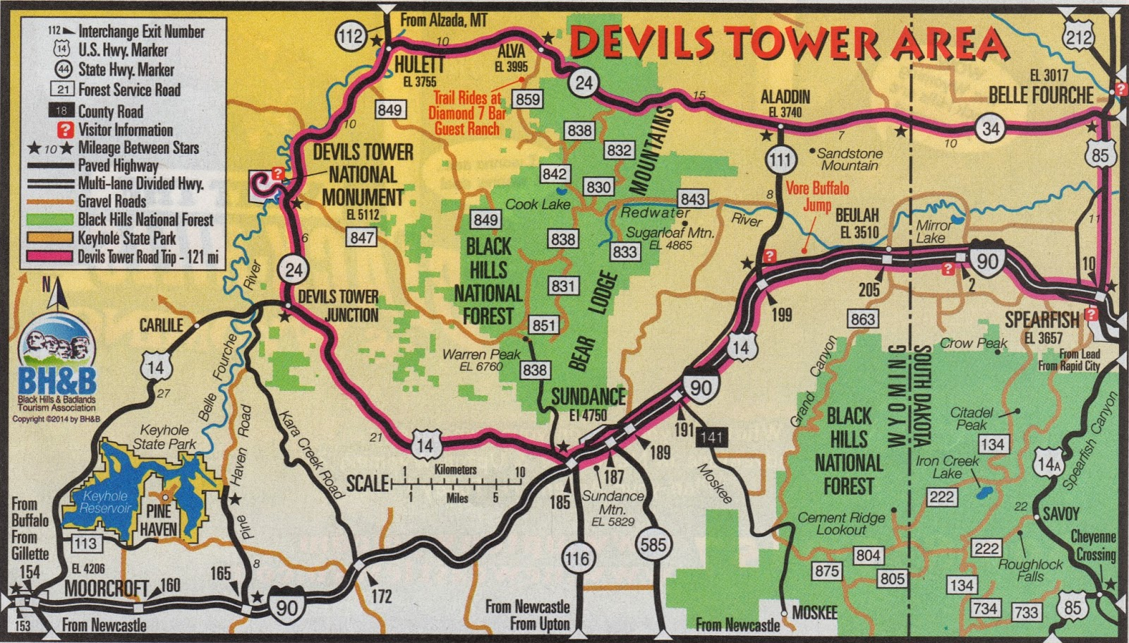 as you can see the trip to devils tower is like a big loop for our route it made more sense for us to travel through the