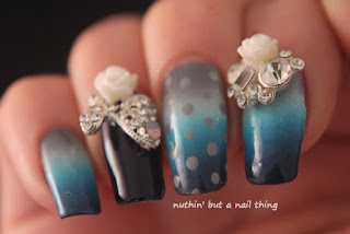 nail art adornment bling design ideas