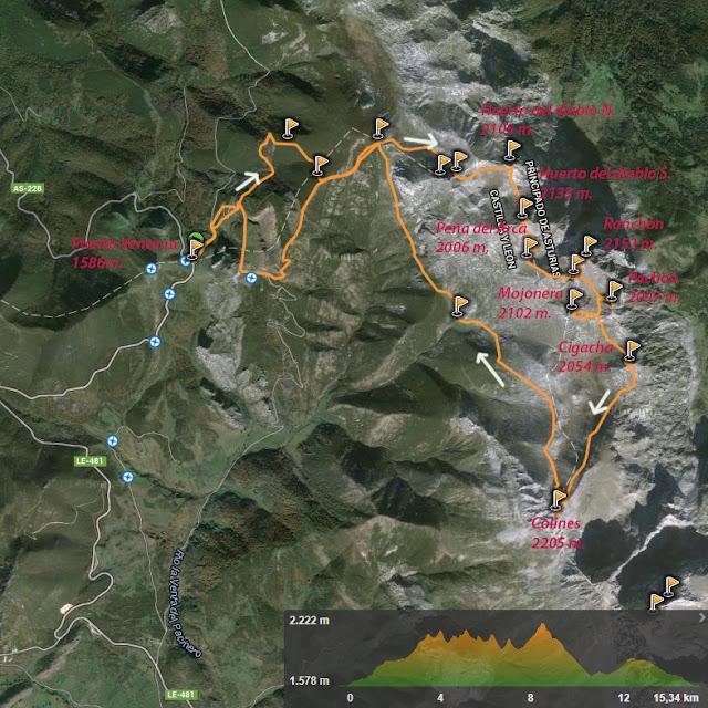 mapa huerto del diablo-Colines