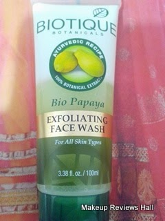 Biotique Papaya Face Wash Review