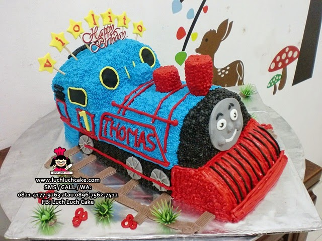 Kue tart 3d Thomas The Tank Engine