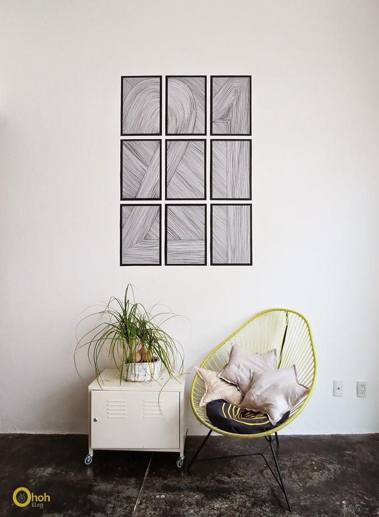 Diy easy wall art ohoh blog - Diy decoracion habitacion ...