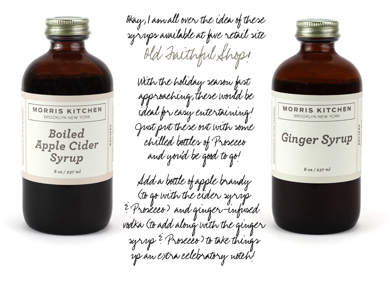 Old Faithful Shop - Apple Cider & Ginger Syrups