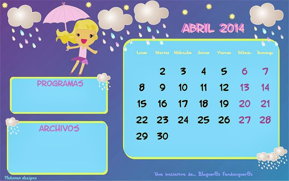 calendario Abril diez