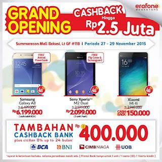 Grand Opening Erafone Megastore Samsung Galaxy A8 Rp 6.199.000 Bonus Animal PowerBank di Summarecon Mal Bekasi