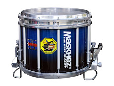 MARCH SNARE DRUM HTS 1412 ROGO JATI SERIES (Biru samar Hitam)