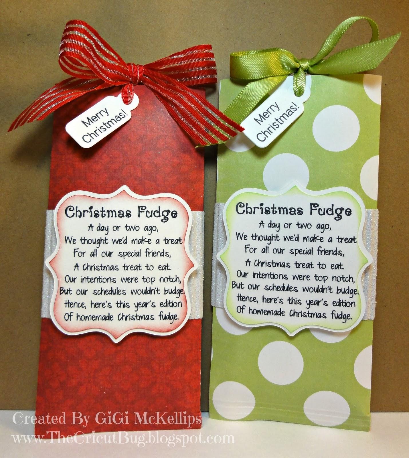 The Cricut Bug: Christmas Fudge