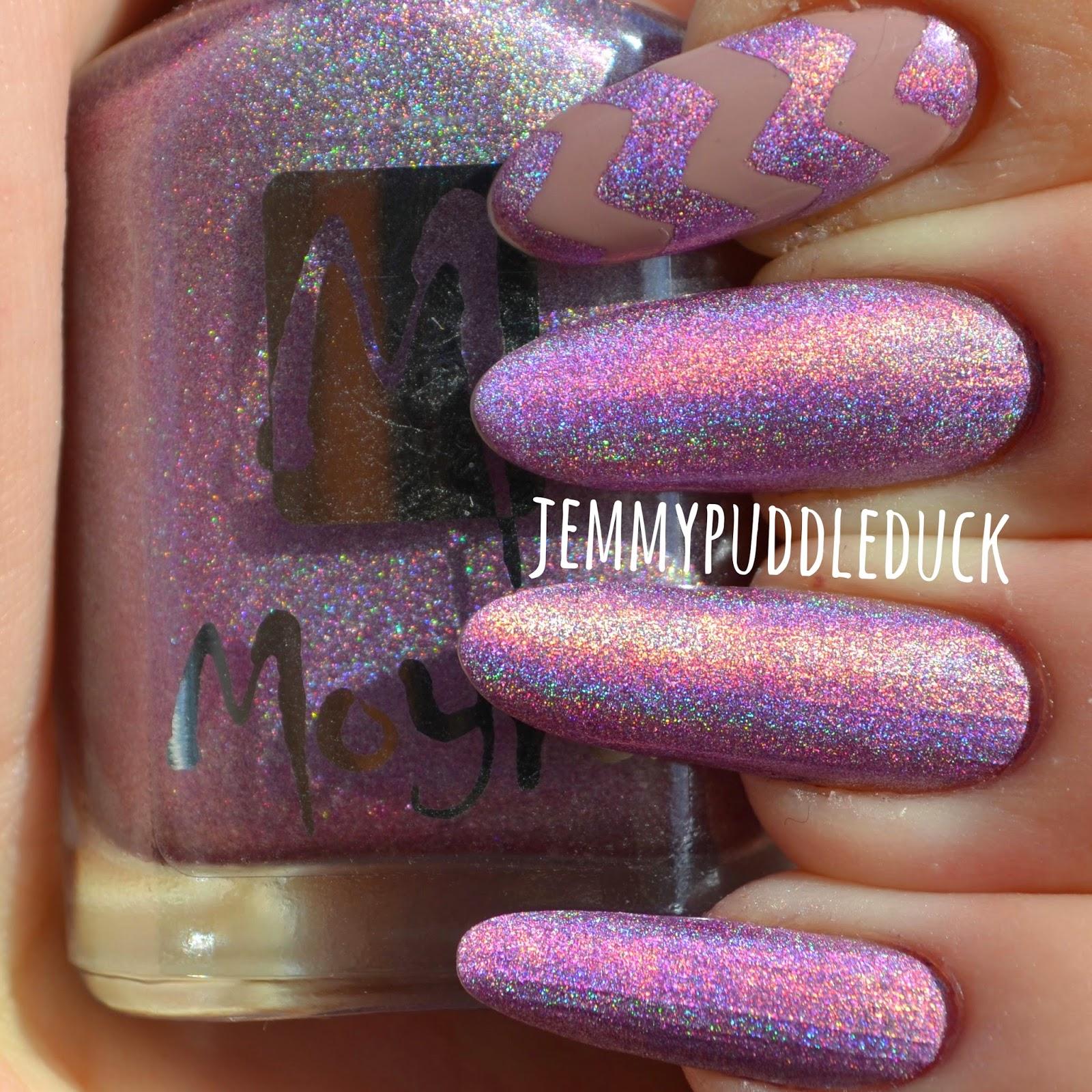 light purple holographic moyra polish