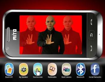Mito 833 Touchscreen harga terjangkau spesifikasi menjanjikan dengan speaker besardipromosikan oleh Master Dedy Courbuzier
