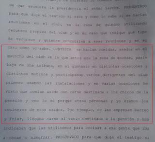 Parte de la declaración de Klecha en sede judicial.