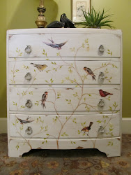 Bow Front Bird Chest