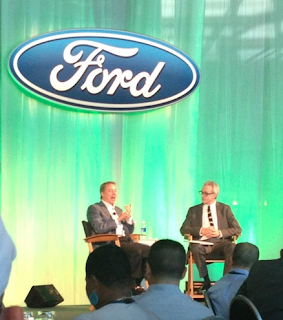 Bill Ford explains that he has been working for over 30 years, since he graduated in 1979 from college, to reinvent Ford into an environmentally conscious corporation.
