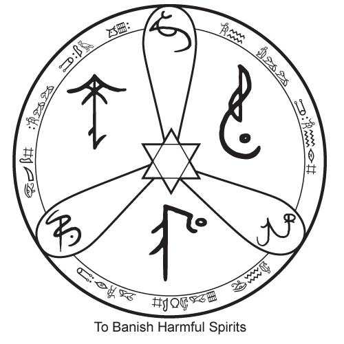 The Witches Collective Sigil To Banish Bad Spirits
