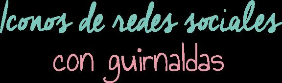 Iconos de Redes Sociales con Guirnaldas