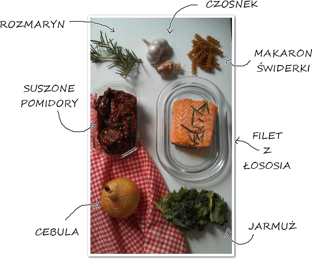 Obiad na piątek czyli filet z łososia z jarmużem.
