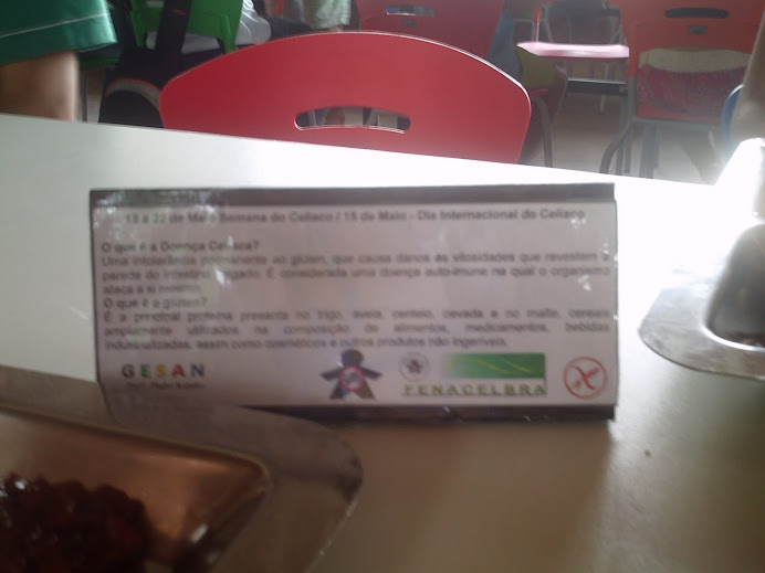 Dia Internacional do Celíaco - Material Educativo no Restaurante Universitário (Maio/2011)