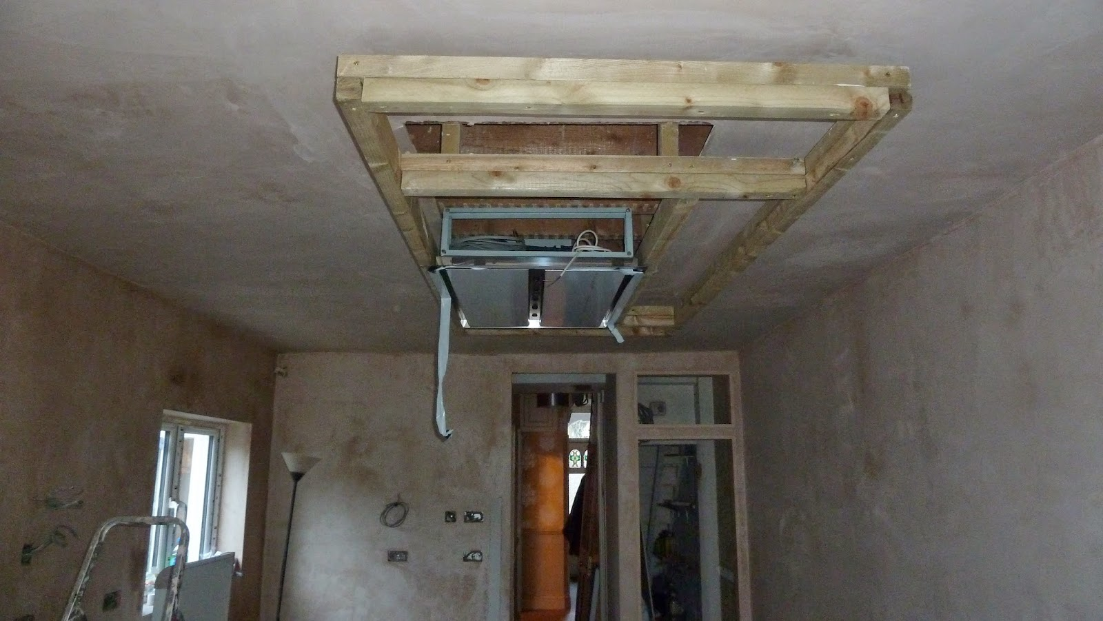 my victorian terrace refurb: kitchen progress - dropdown ceiling