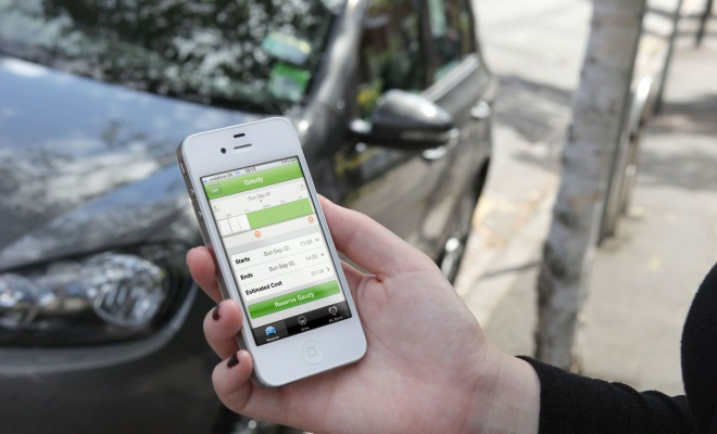 Booking a Zipcar by iPhone